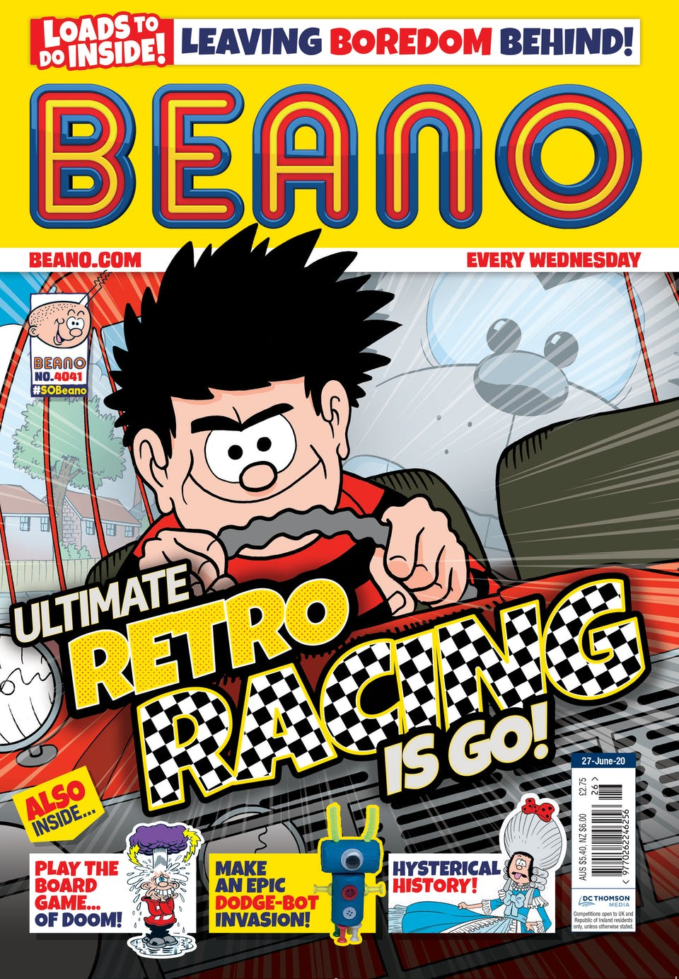 Inside Beano Issue 4041 - On your marks, get set... Race!