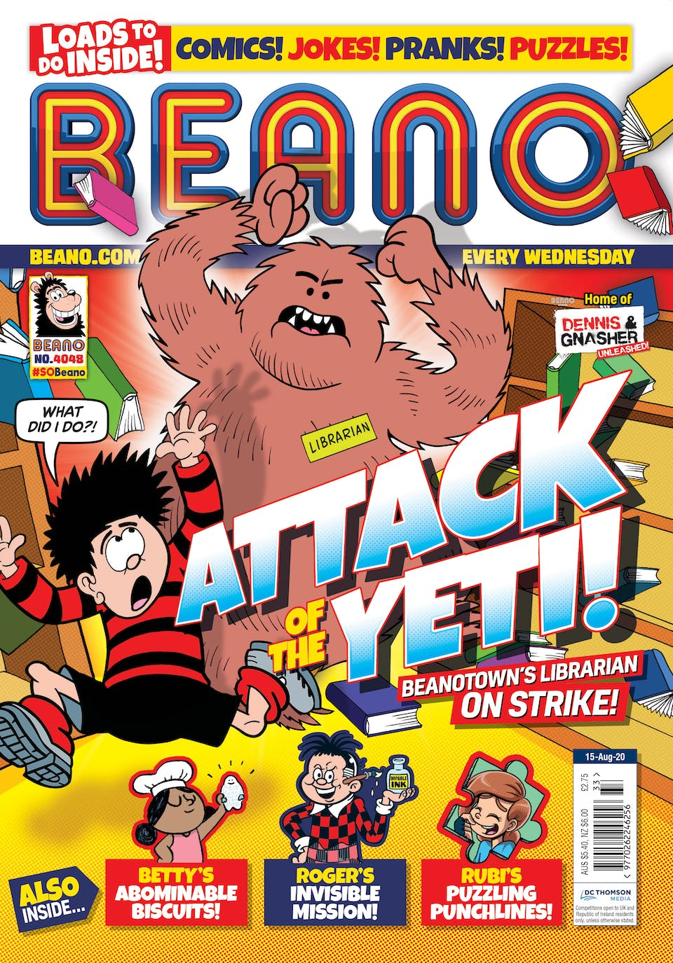 Inside Beano no. 4048 - Attack of the Yeti!