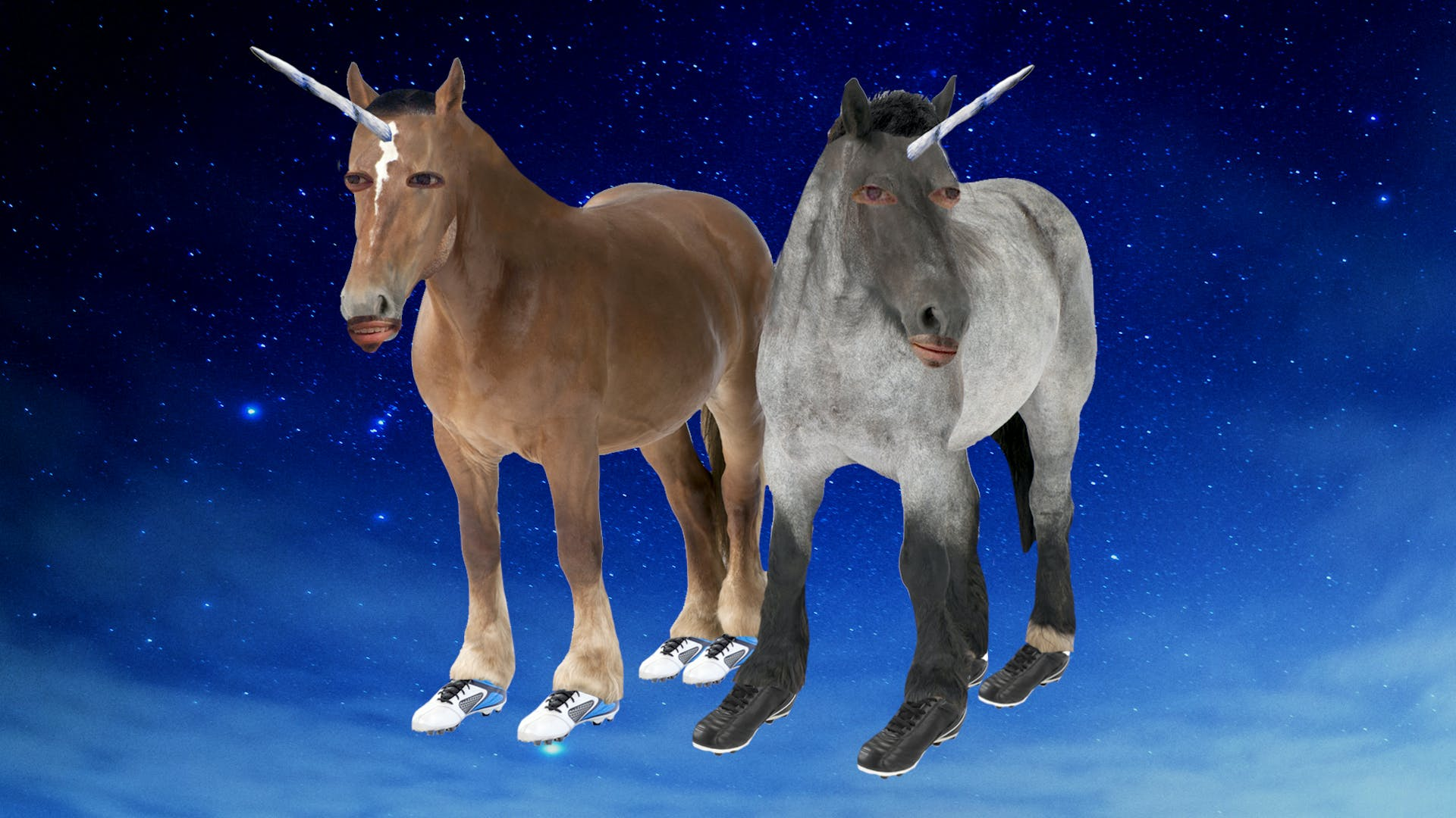 The F2 Freestylers as unicorns