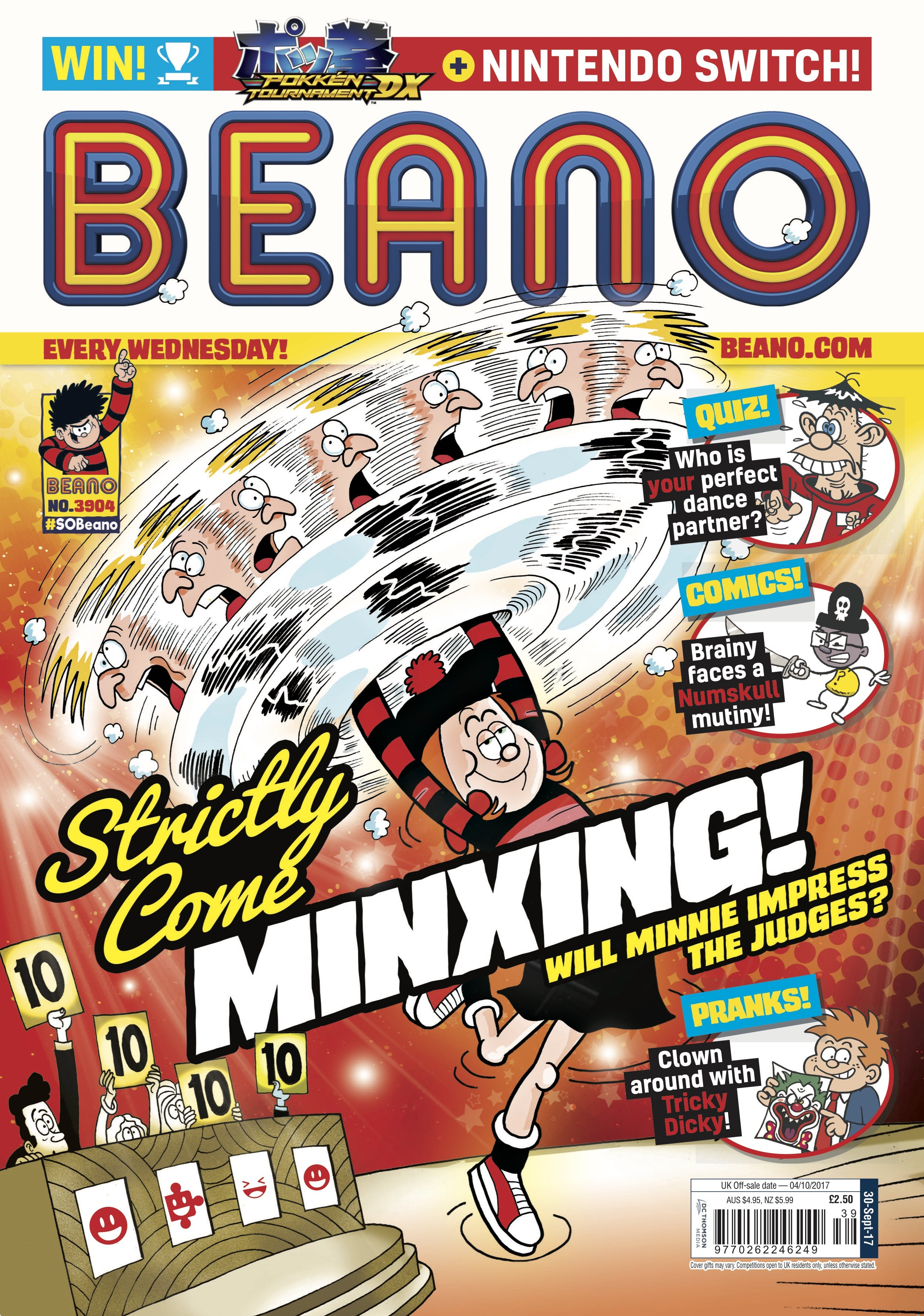 The cover of Beano No. 3904, issue dated 30th September 2017
