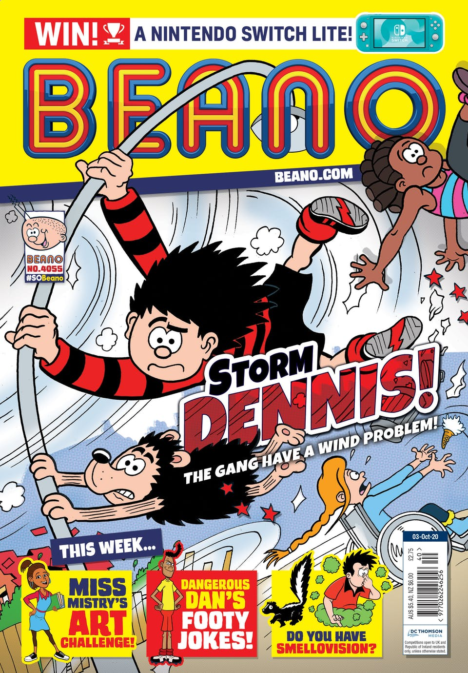 Inside Beano no.4053  - Storm Dennis has hit Beanotown!
