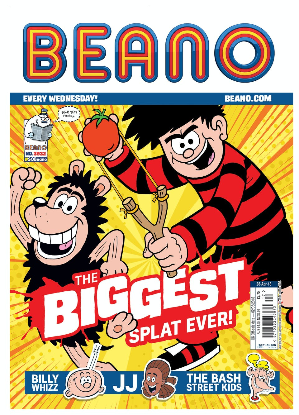 Dennis and Gnasher tomatoes cover