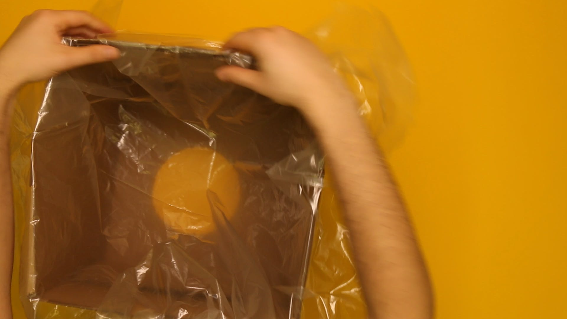 Place bag inside the box and tape it down so it's airtight