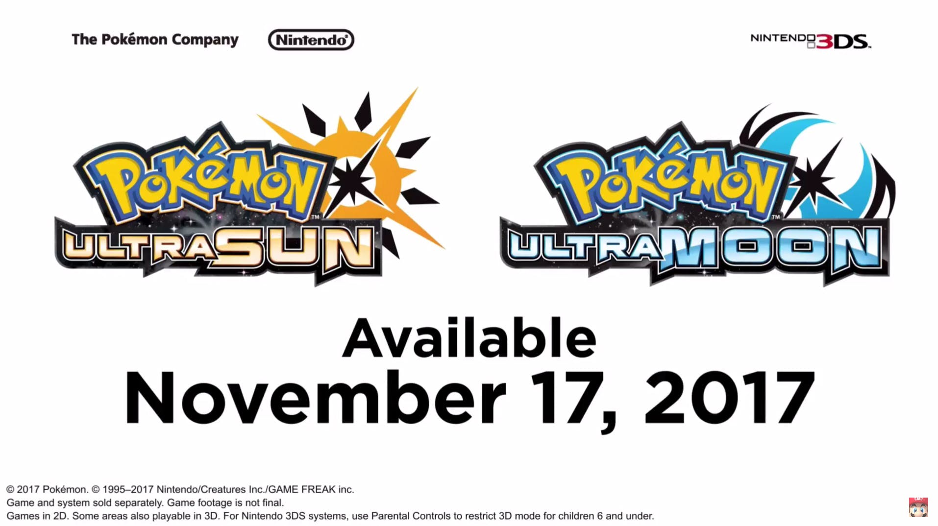 Pokemon UltraSun and UltraMoon
