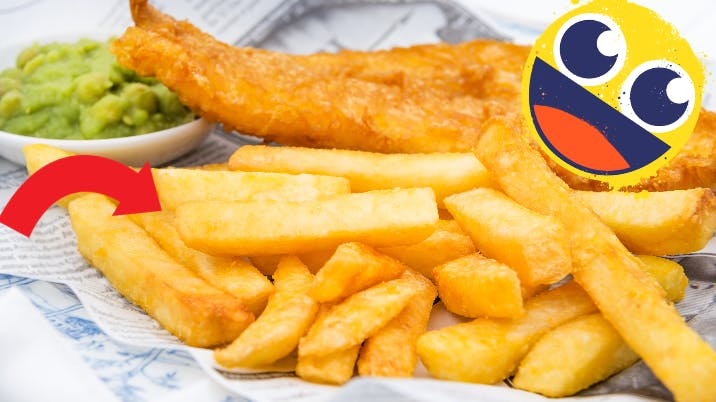 plate of fish and chips