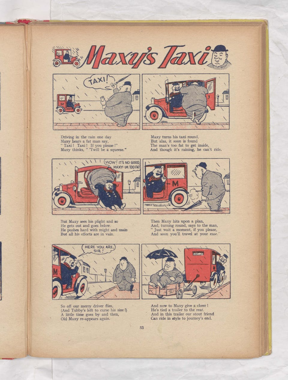 Maxy's Taxi - Beano Book 1949 Annual