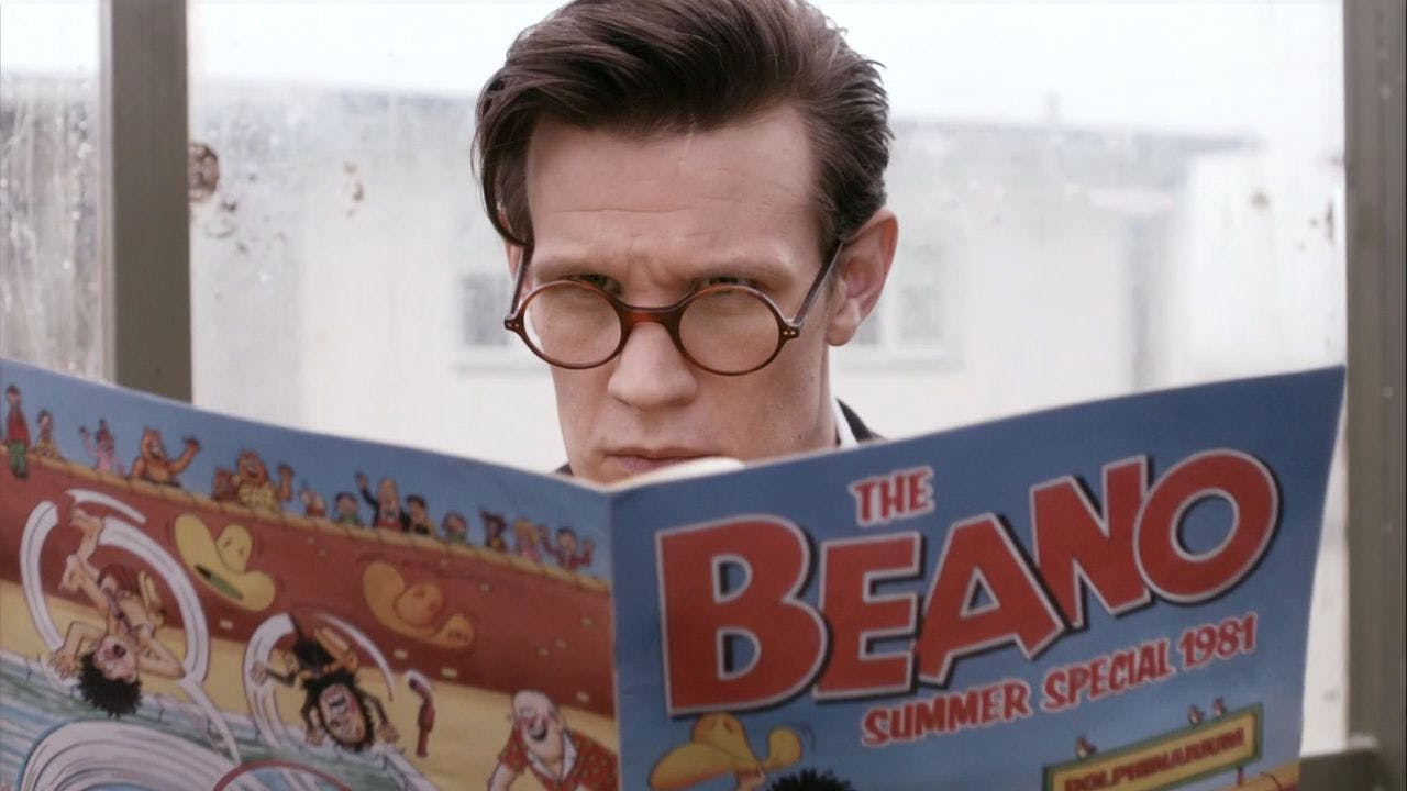 Doctor Who reading the Beano Summer Special 1981