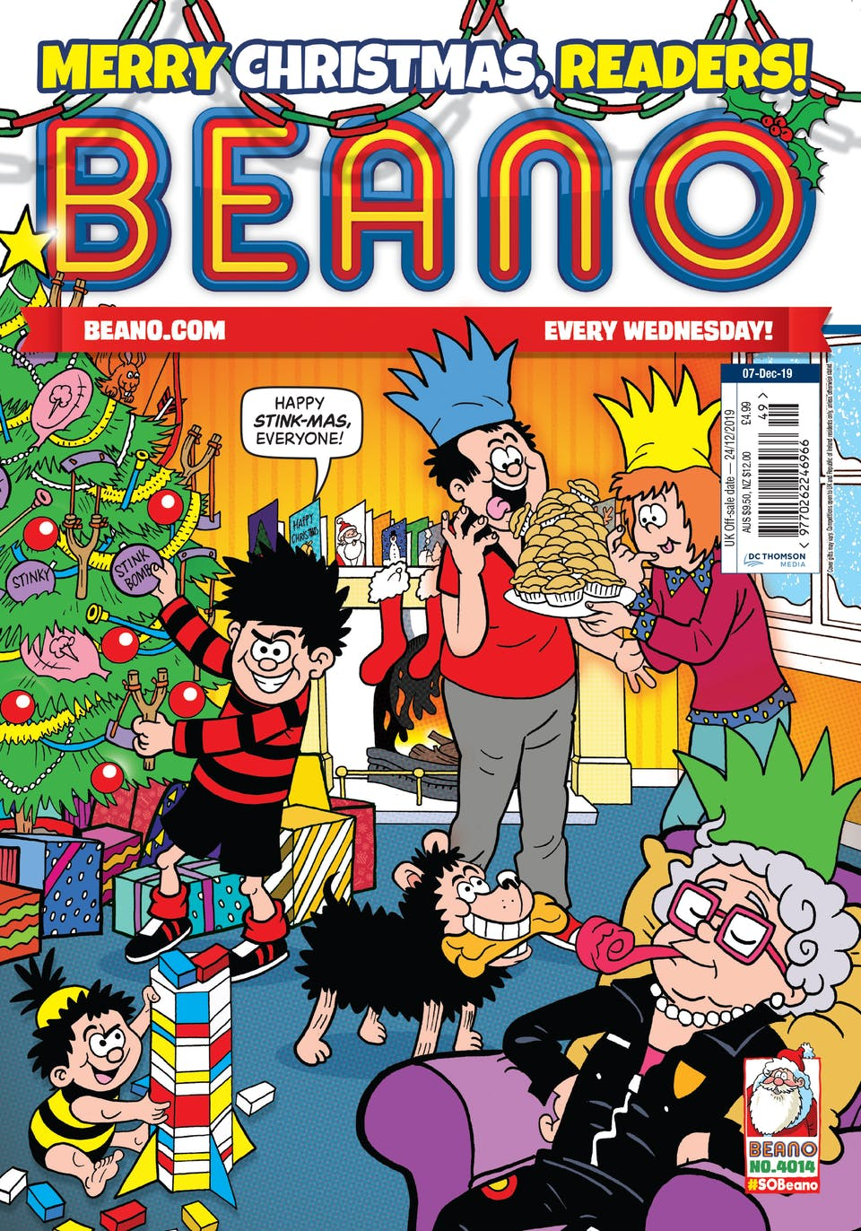 Inside Beano 4014 - Merry Christmas