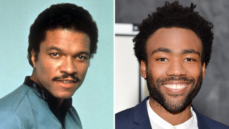 Billy Dee Williams and Donald Glover