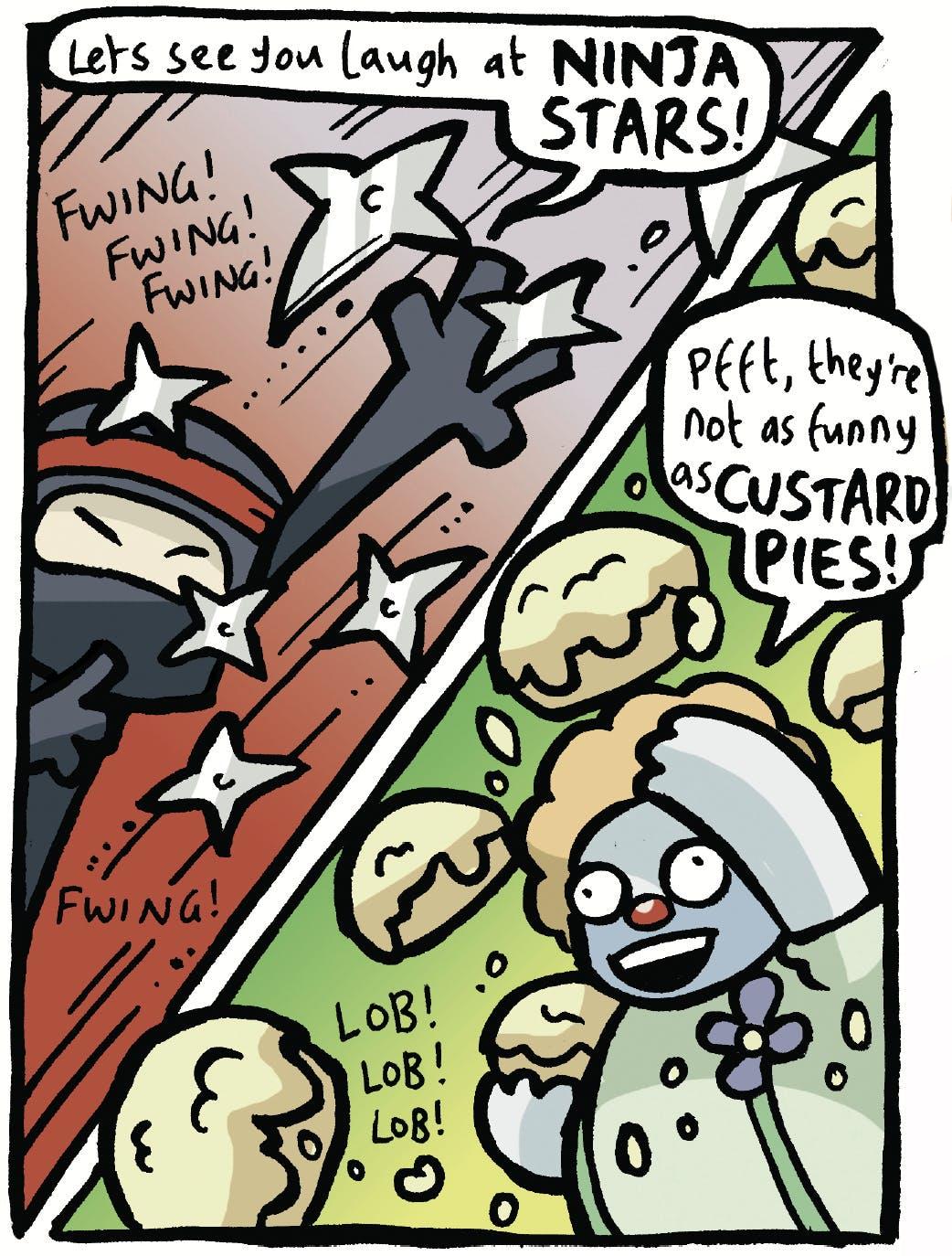 Arena of Awesome - Ninja vs. Clown, Beano, Jamie Smart