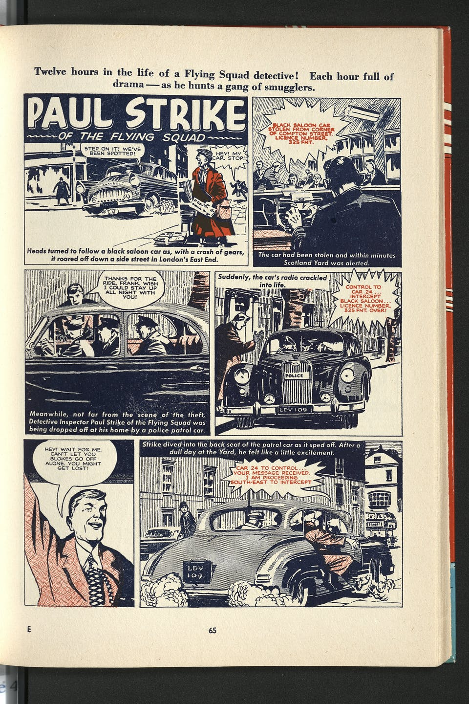 Paul Strike of the Flying Squad - Beano Book 1961 Annual
