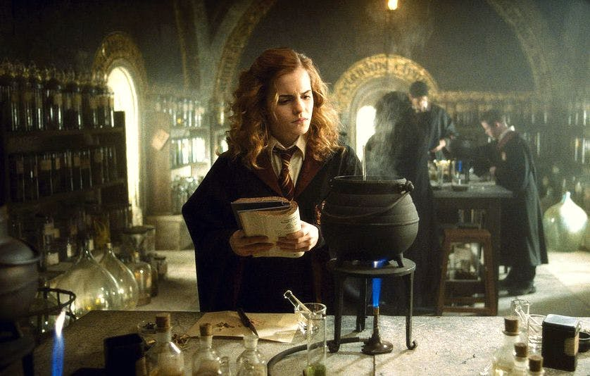 Hermione Granger makes a potion