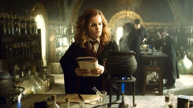 Hermione Granger makes a potion