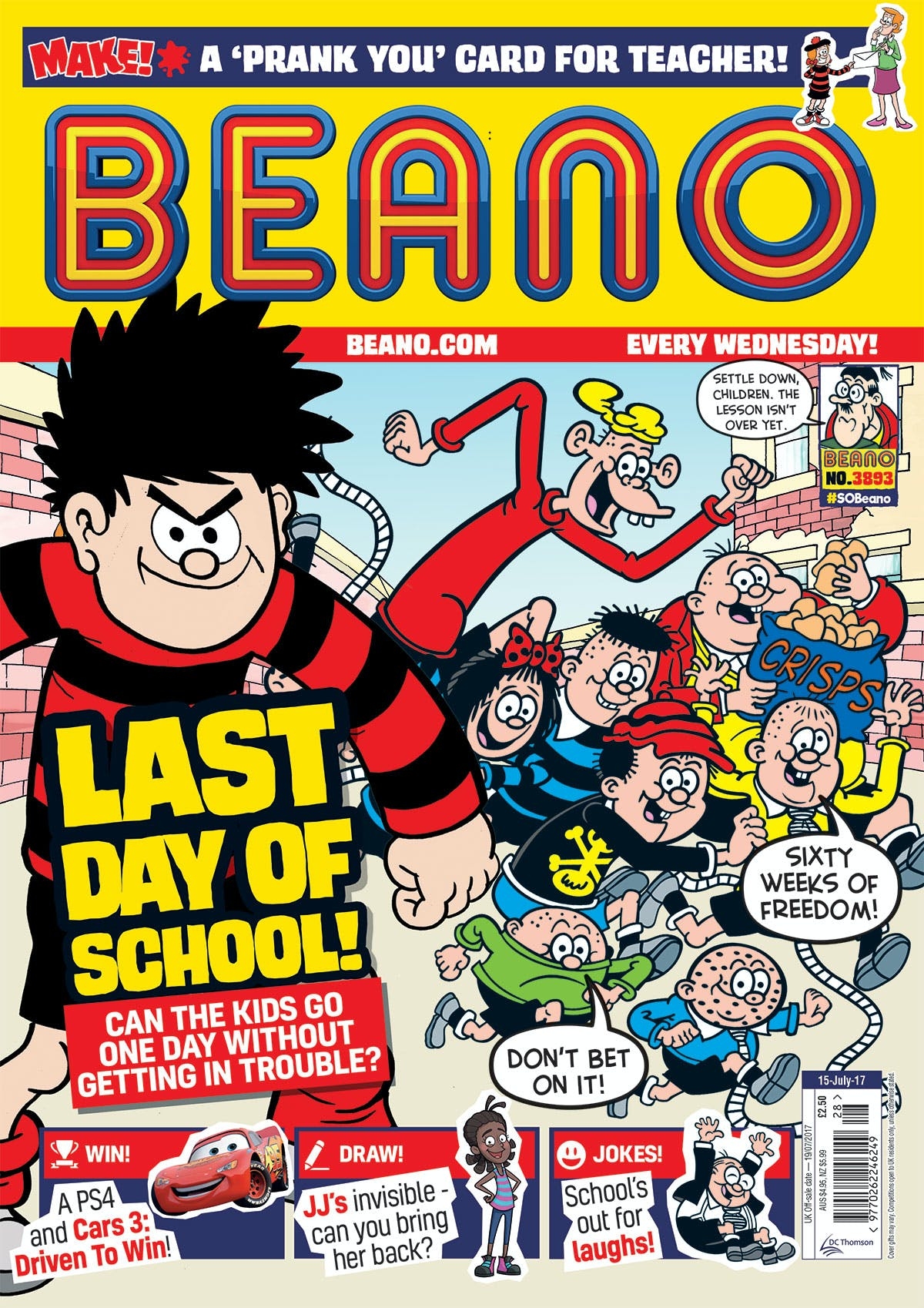 Beano No. 3893 - July 15th 2017