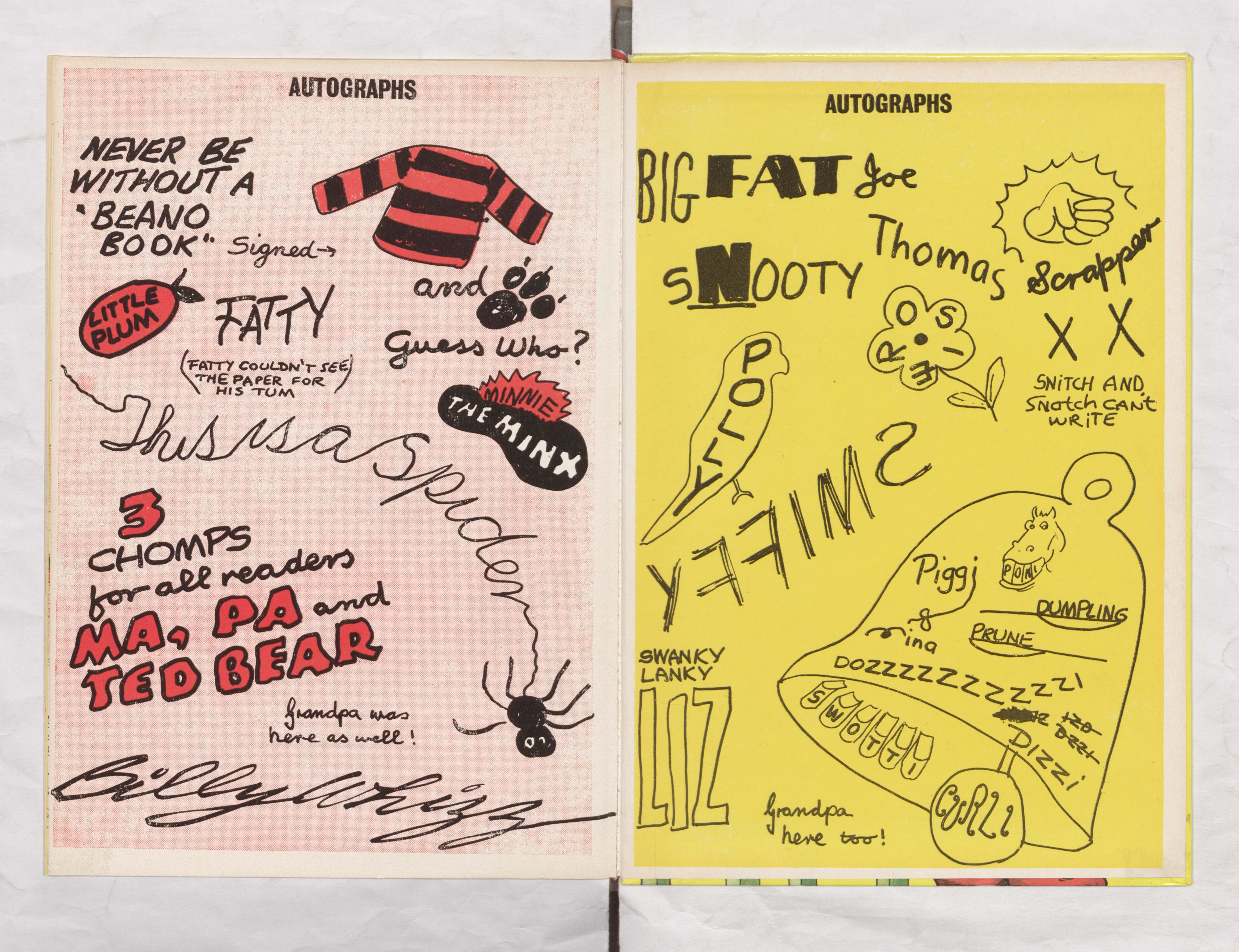 Beano Book 1973 Annual - Autographs 2