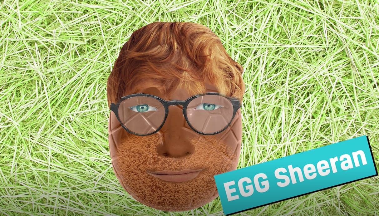 Ed Sheeran as an Easter egg