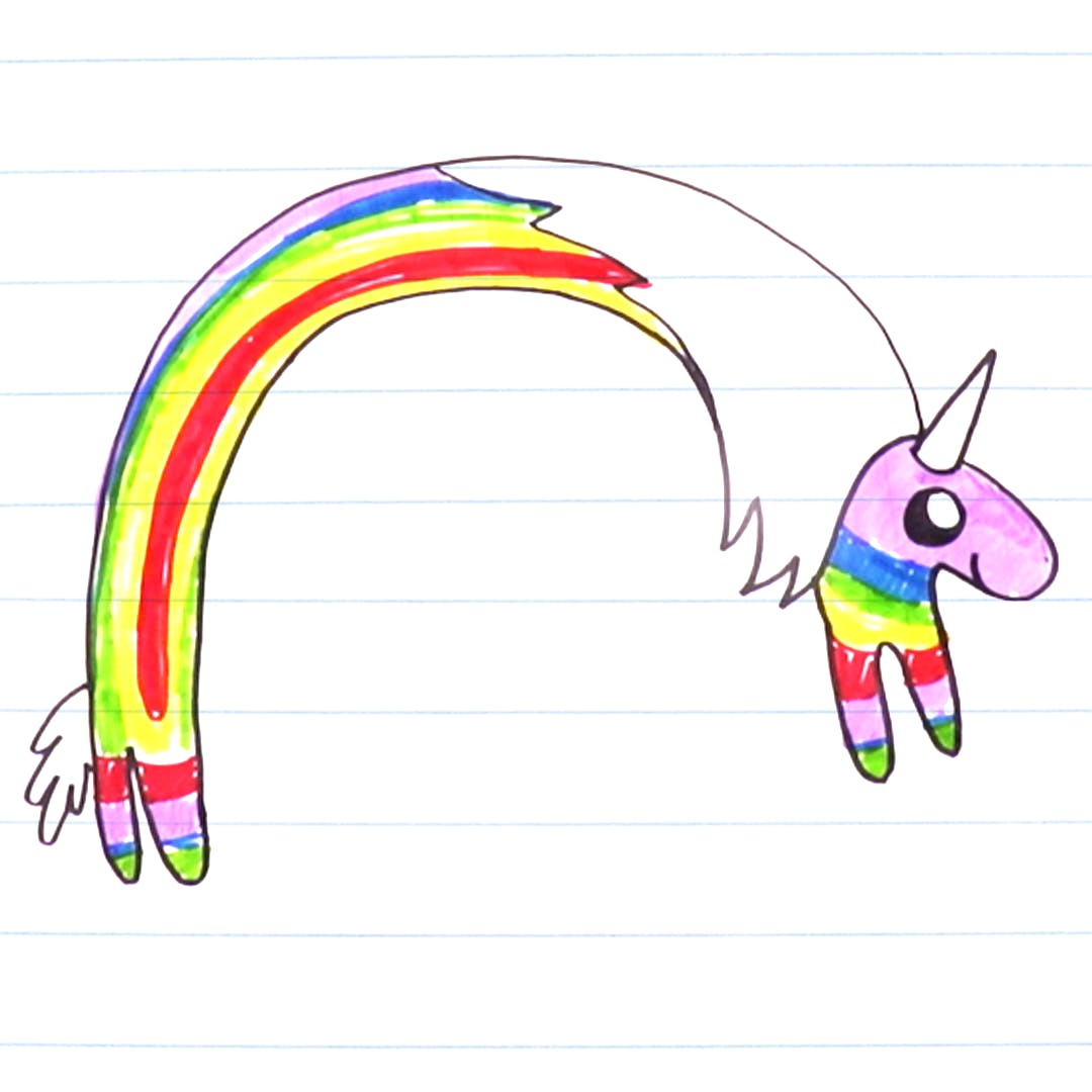 Drawing of Lady Rainicorn
