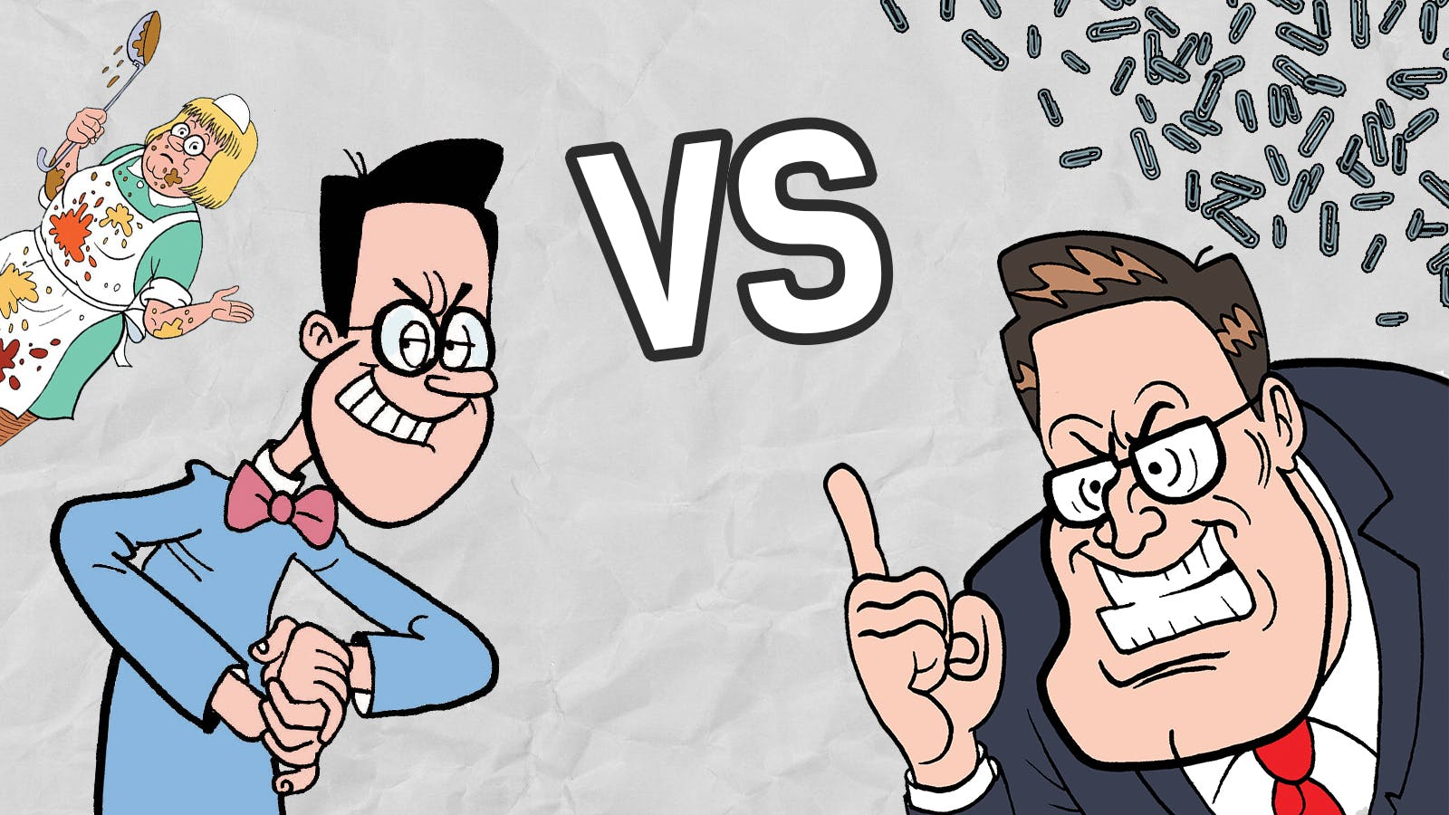 Perfect paperclips or Olive is out - Walter and Wilbur go Head2Head
