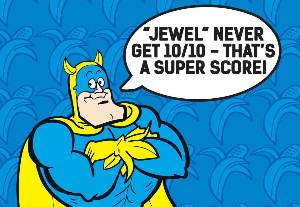You've heard of the Man of Steel - well, even he quakes before the Man of Peel, Bananaman!