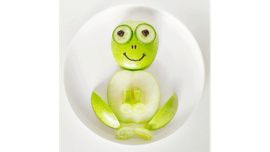 Frog made of fruit