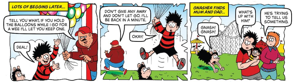 Inside Beano no. 3993 - Dennis and Gnasher