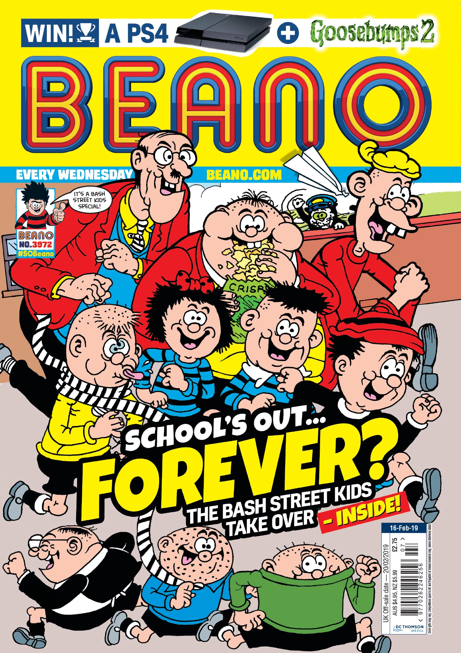 Beano no. 3972. School's out... forever?