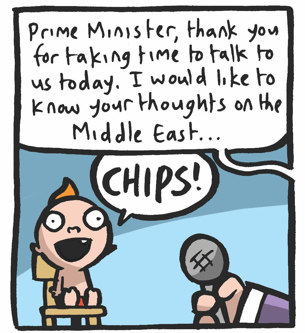 With our new Prime Minister!