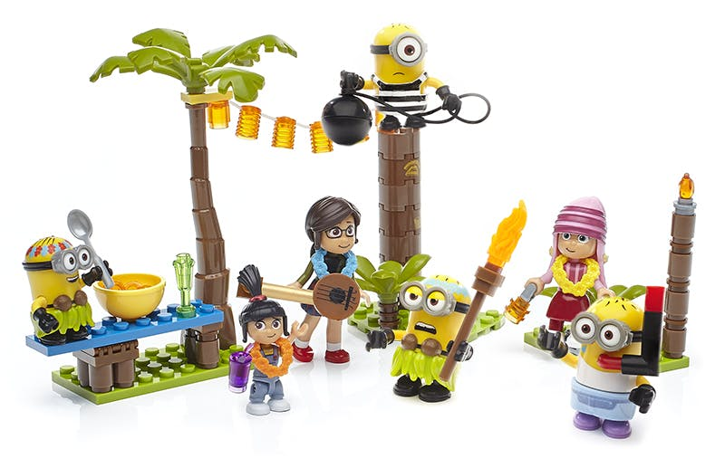 Agnes, Margo and Edith and Minions Mega construx