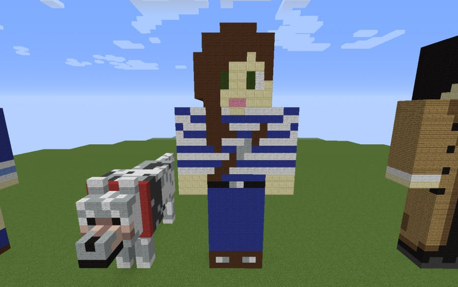 Stacy Hinojosa plays Minecraft-style game DogCraft