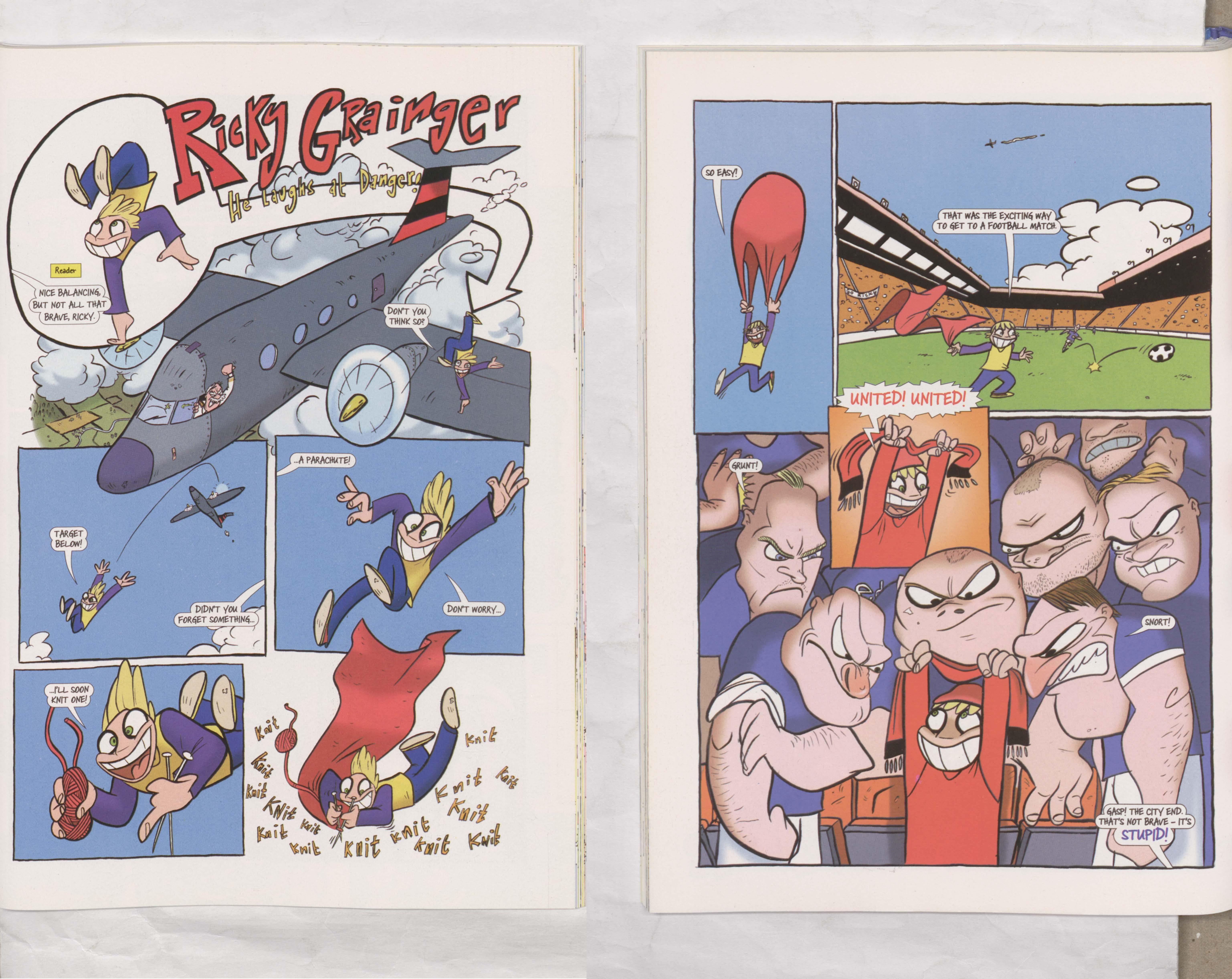 Ricky Grainger - He Laughs at Danger - Beano Annual 2005