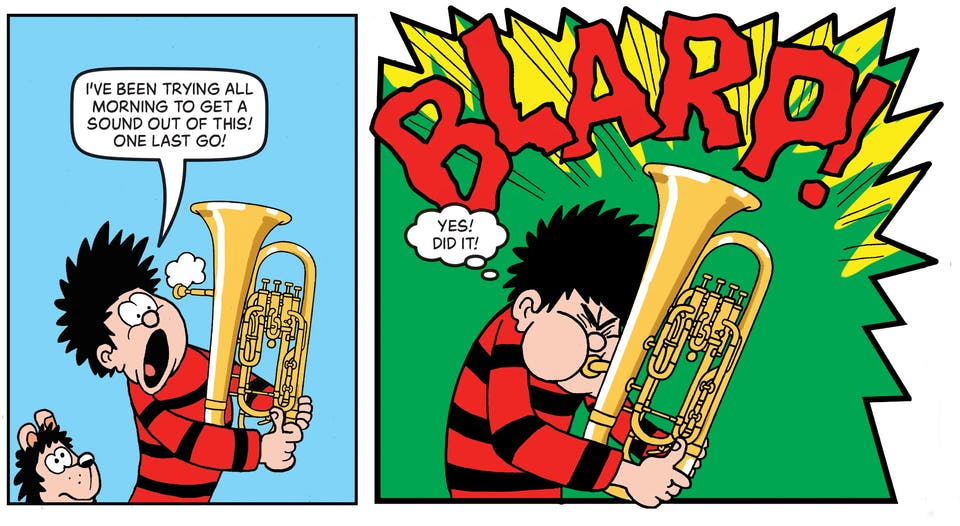 Inside Beano no. 4048  - Dennis & Gnasher