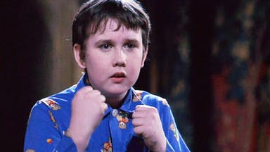 Neville Longbottom prepares to do battle in his pyjamas