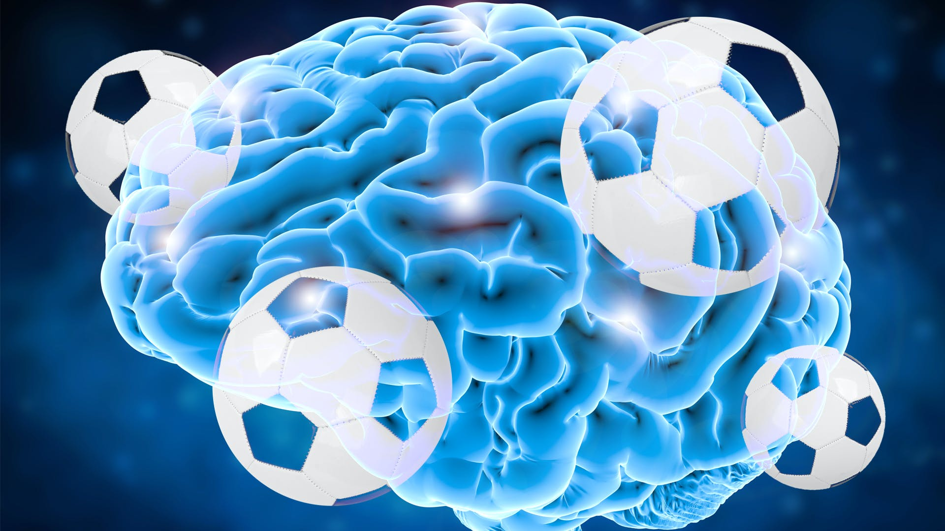 brain covered in footballs