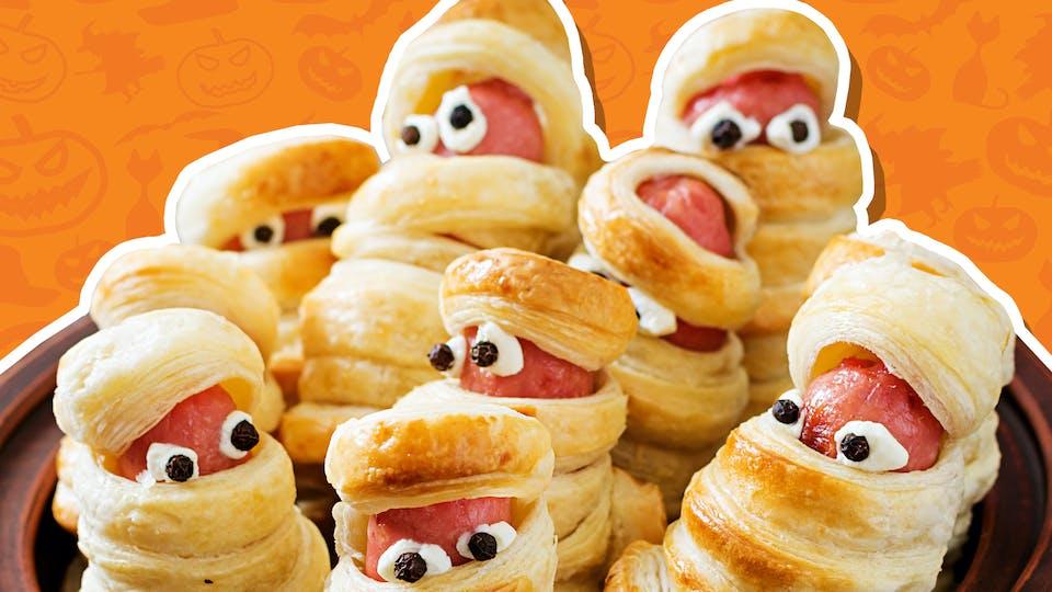 Halloween hotdogs