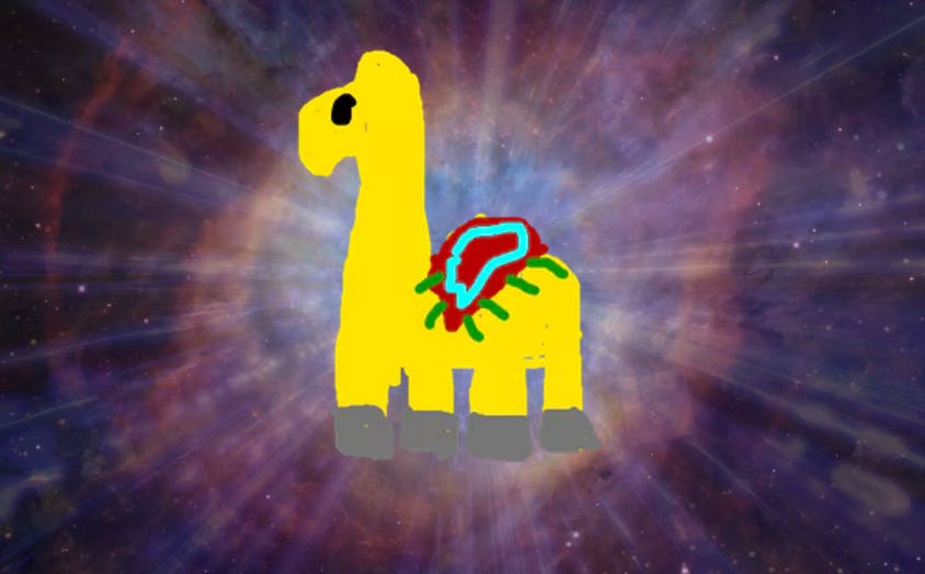 A space camel
