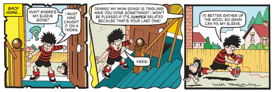Inside Beano 4017 - Dennis and Gnashed