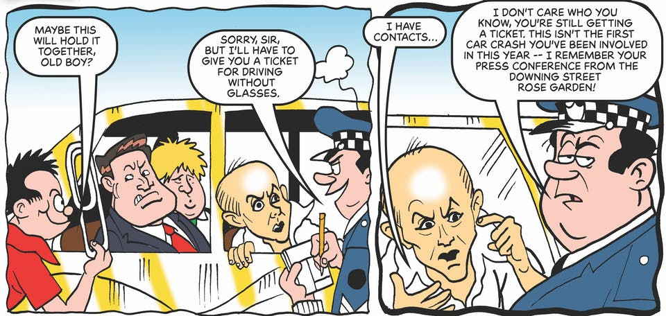 Dominic Cummings and Boris Johnson in the Beano