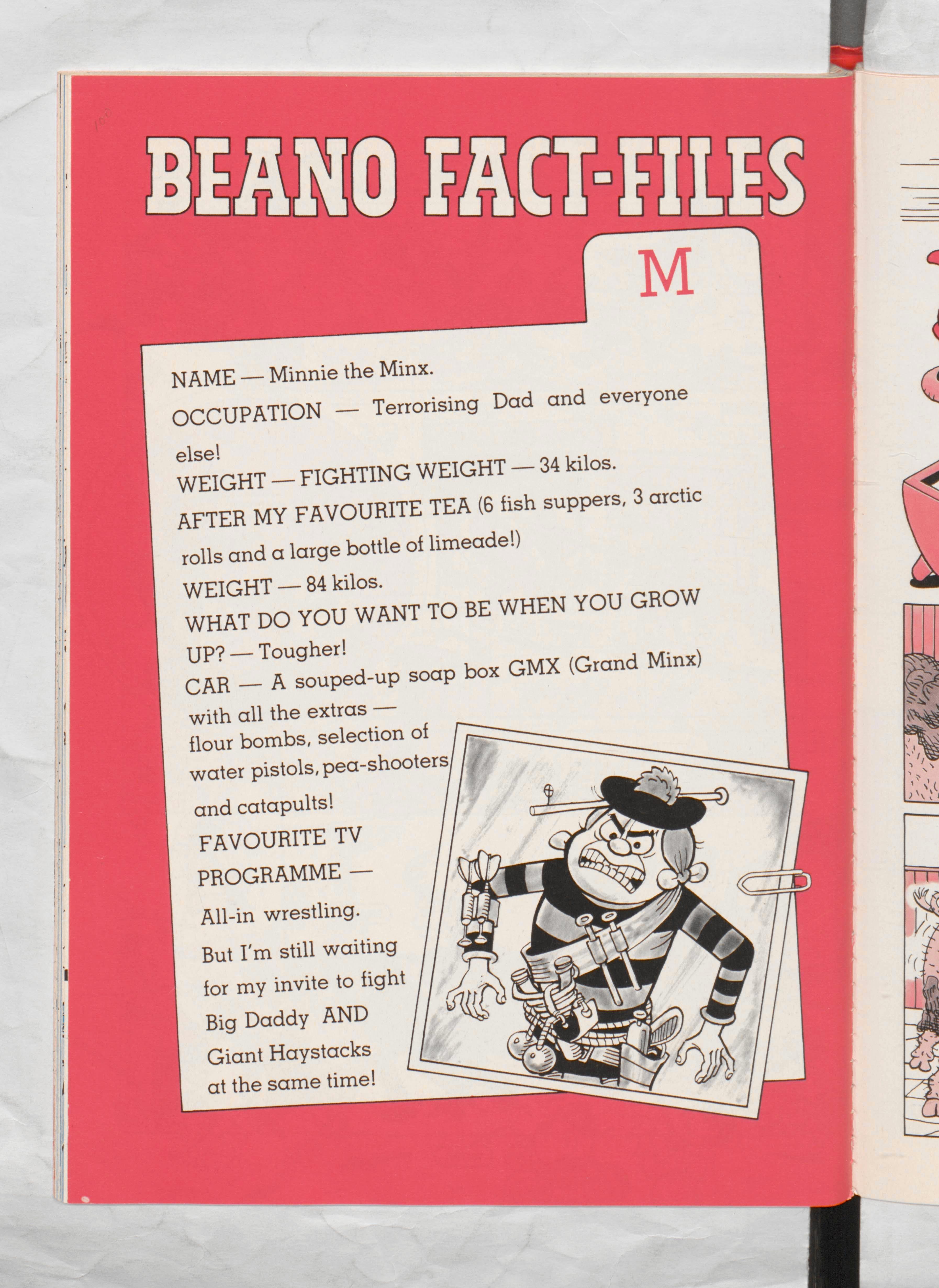 Minnie the Minx Beano Book 1987 Annual