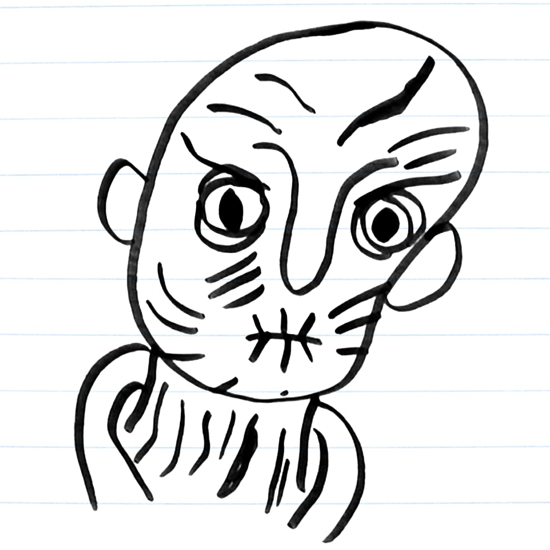 Drawing of Snoke