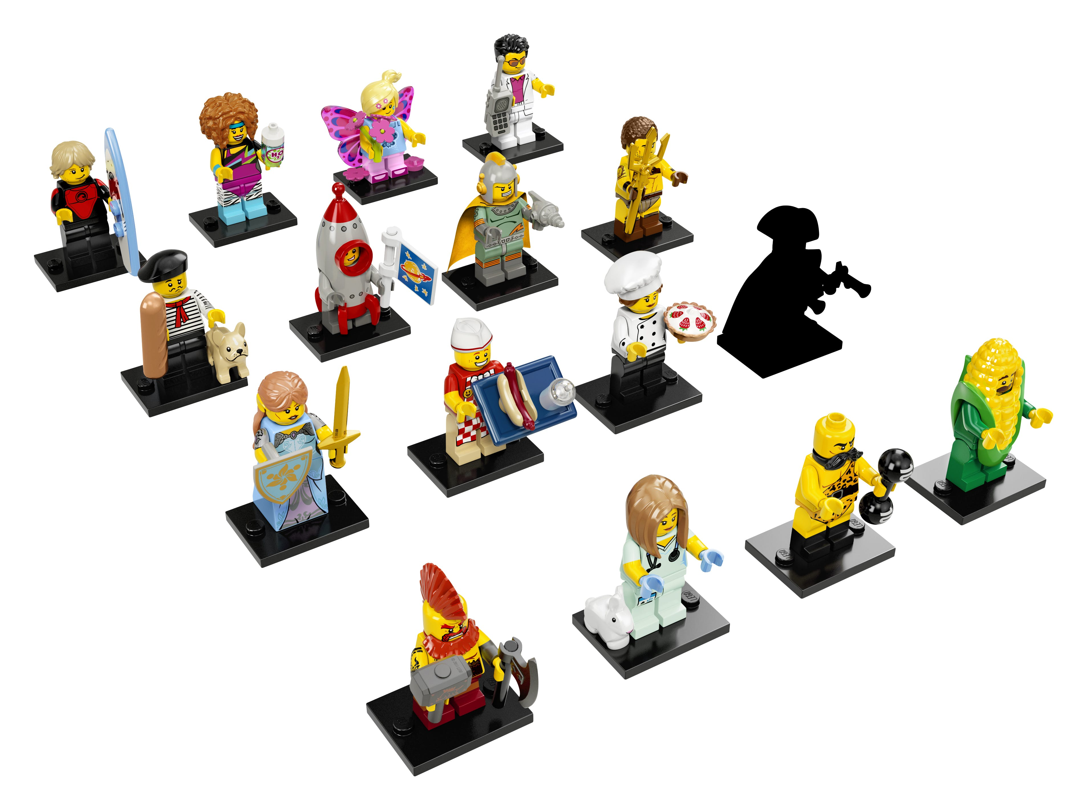 LEGO minifgs series 17 complete collection