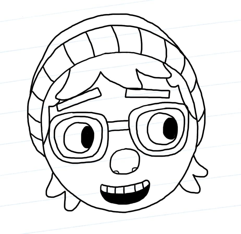 Pieface outline