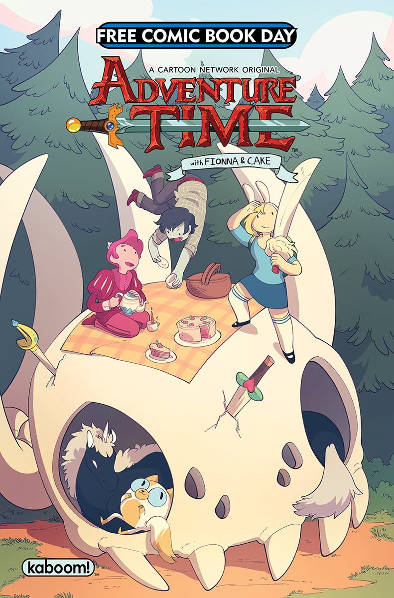 Adventure time free comic cover