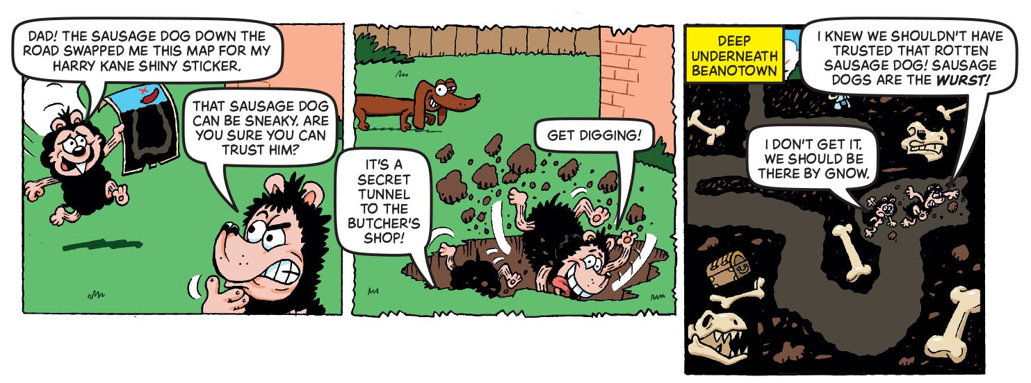 Inside Beano no. 3985! Gnasher and Gnipper
