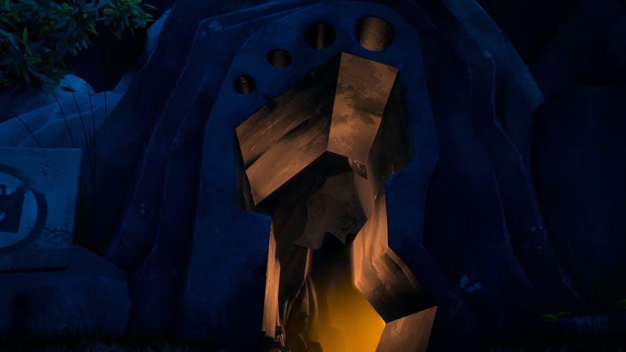 The Yeti's cave!