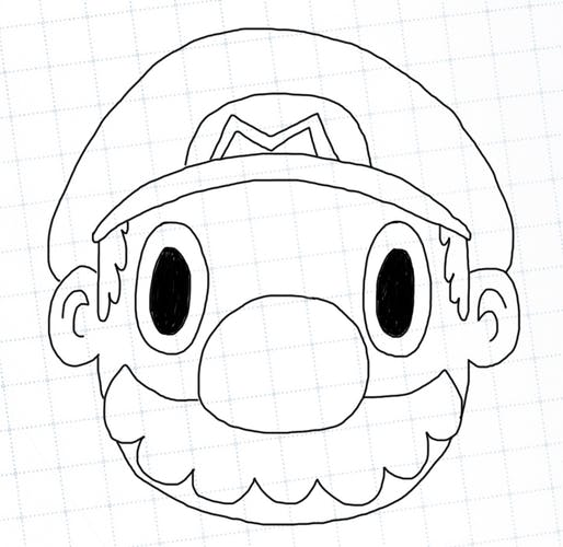 Outline of Mario's head