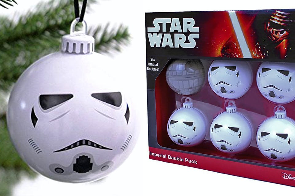 storm trooper baubles - Star Wars Christmas Decorations
