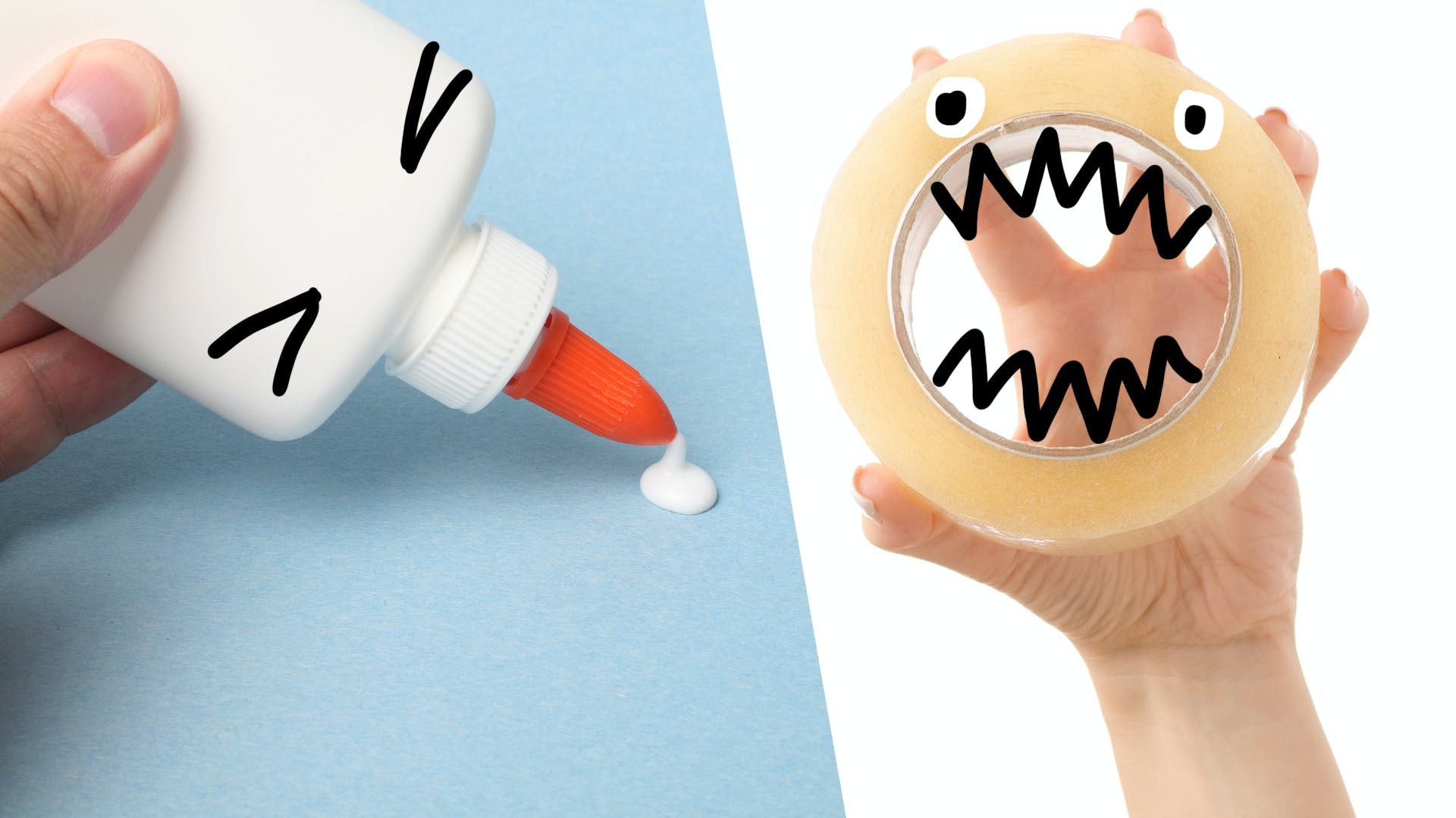 glue vs sellotape - who will win?