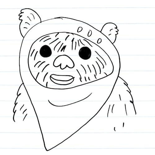 Drawing of an ewok