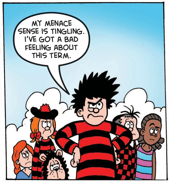 Dennis the Menace going back to school