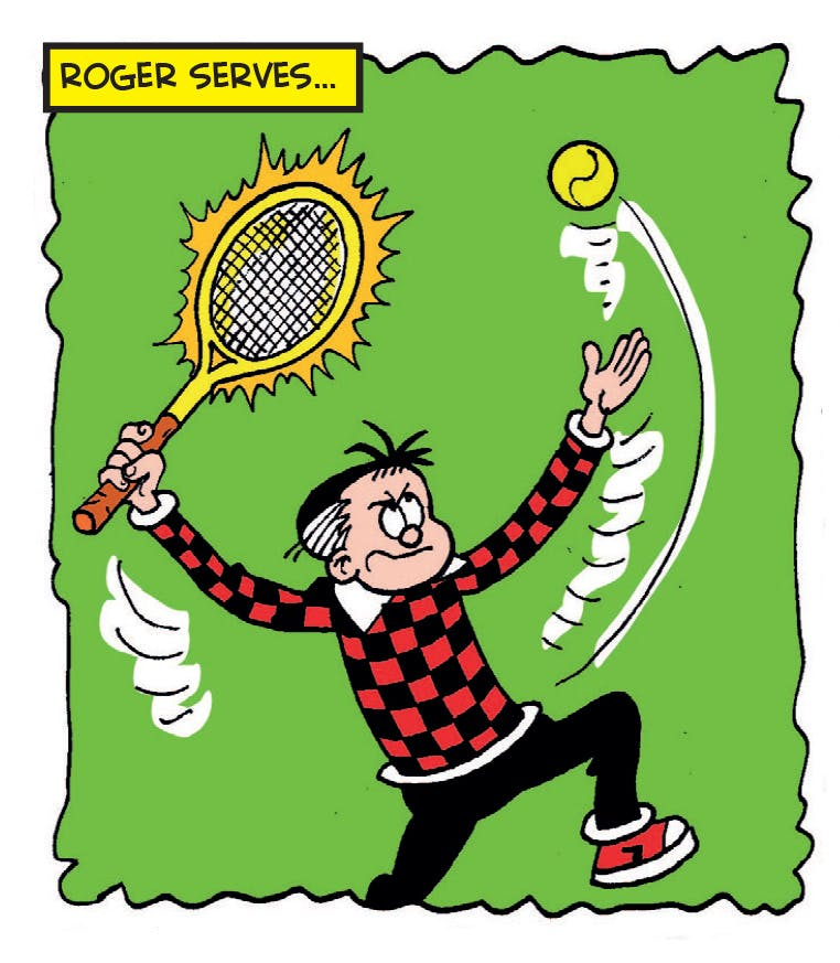 Tennis the Menace, Beano, Wimbledon, Dennis the Menace